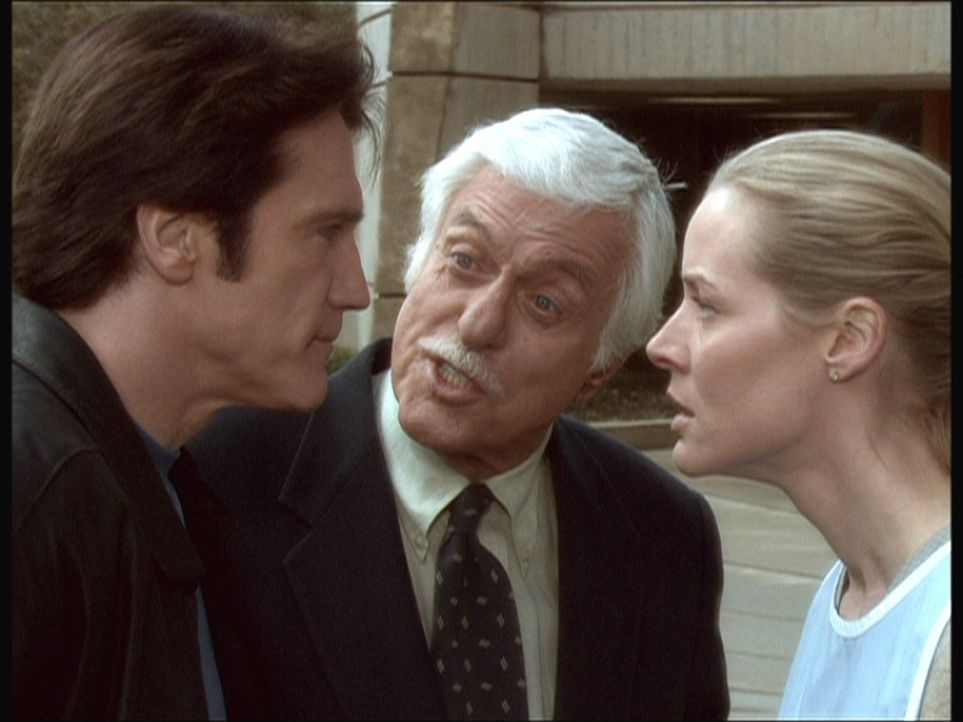 Steve (Barry Van Dyke, l.) und Ellen (Kim Quinn, r.) streiten sich über ihre unterschiedliche Auffassung effektiver Ermittllungsmethoden. Mark (Dic... - Bildquelle: Viacom