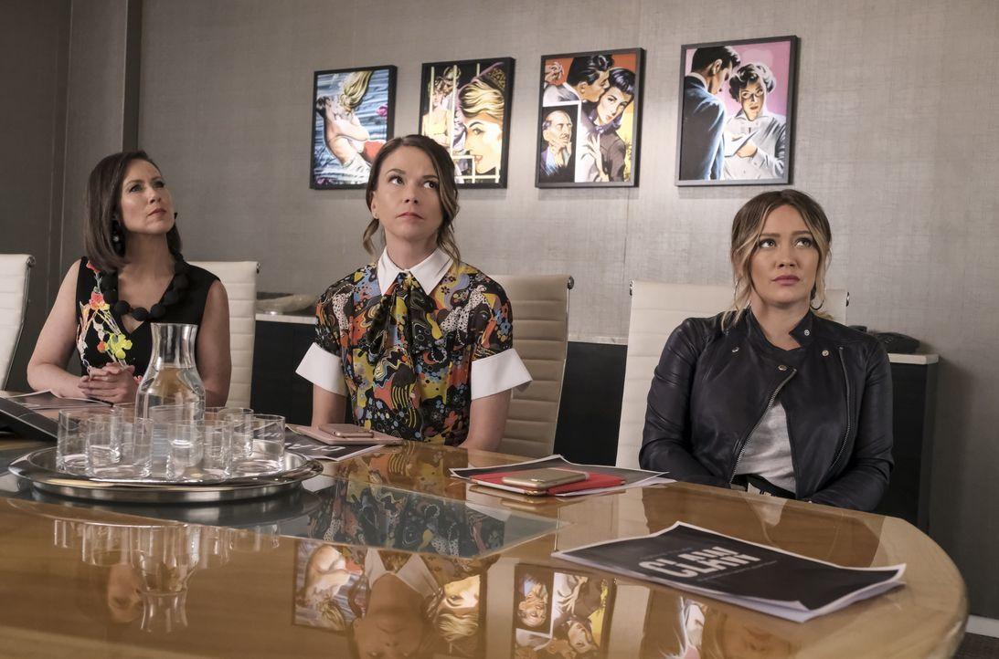 (v.l.n.r.) Diana Trout (Miriam Shor); Liza Miller (Sutton Foster); Kelsey Peters (Hilary Duff) - Bildquelle: Hudson Street Productions Inc 2018