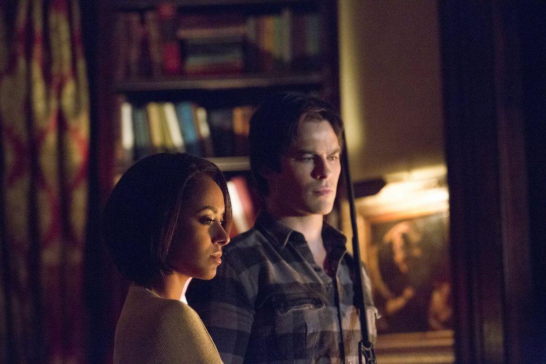 Die Harmonie zwischen Bonnie (Kat Graham, l.) und Damon (Ian Somerhalder, r.) gerät ins Wanken, doch ein gemeinsamer Feind schweißt zusammen ... - Bildquelle: Warner Bros. Entertainment, Inc