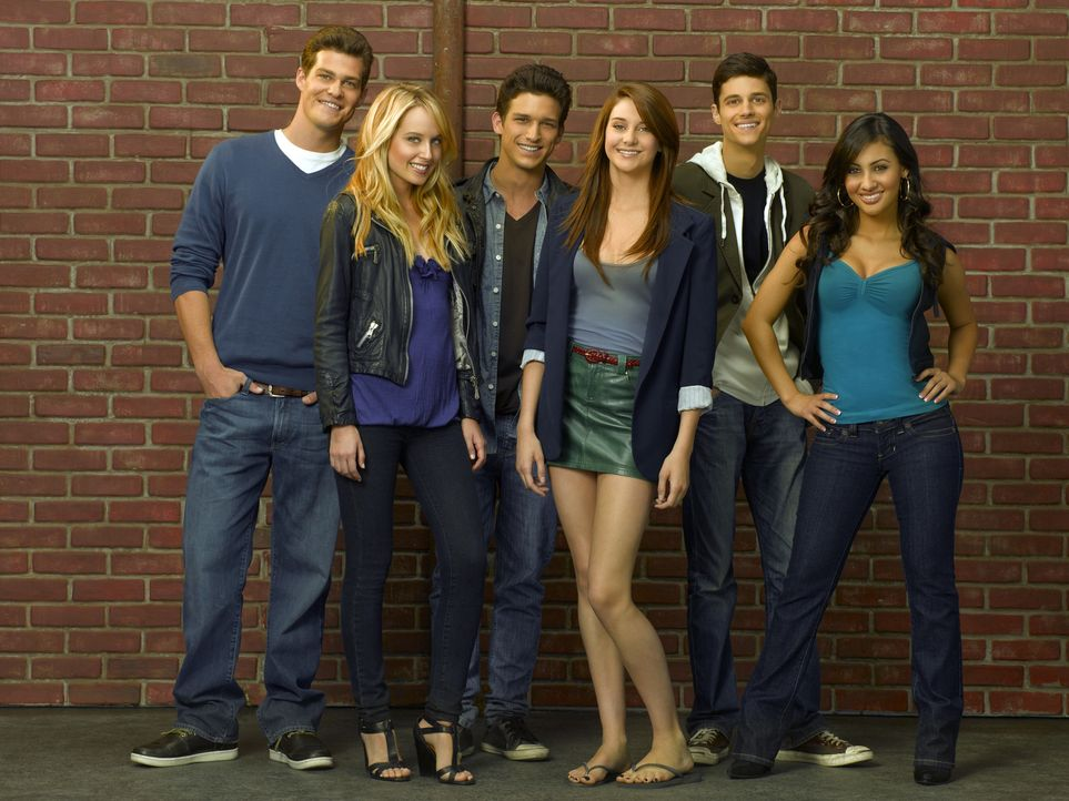 (3. Staffel) - (v.l.n.r.) Jack Pappas (Greg Finley), Grace Bowman (Megan Park), Ricky Underwood (Daren Kagasoff), Amy Juergens (Shailene Woodley), B... - Bildquelle: 2009 DISNEY ENTERPRISES, INC. All rights reserved. NO ARCHIVING. NO RESALE.