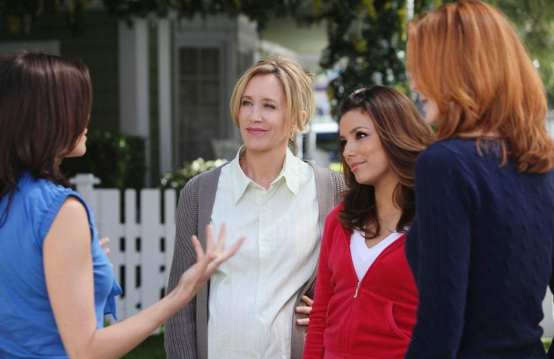 Susan (Teri Hatcher, l.) zieht mit Mike und M.J. von der Wisteria Lane weg um ihre finanziellen Schwierigkeiten in Griff zu bekommen. Für Lynette (F... - Bildquelle: ABC Studios