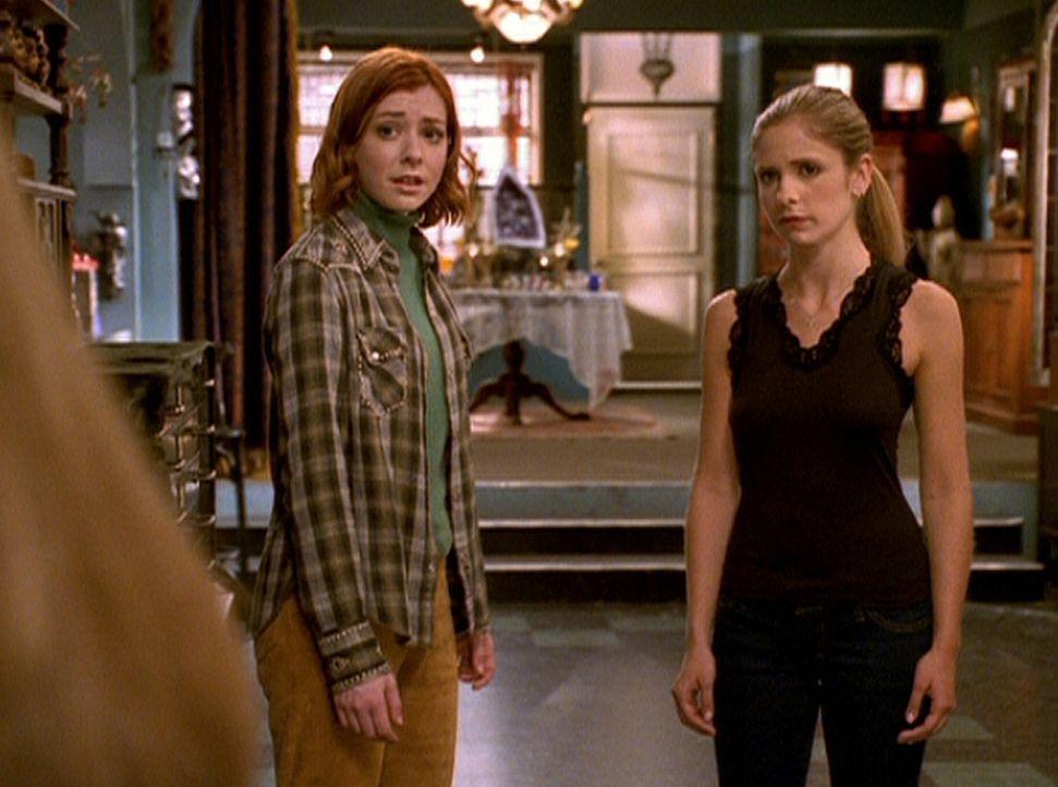 Seit Dawn von Glory entführt worden ist, befindet Buffy (Sarah Michelle Gellar, r.) sich in einer katatonischen Starre. Also dringt Willow (Alyson H... - Bildquelle: TM +   2000 Twentieth Century Fox Film Corporation. All Rights Reserved.
