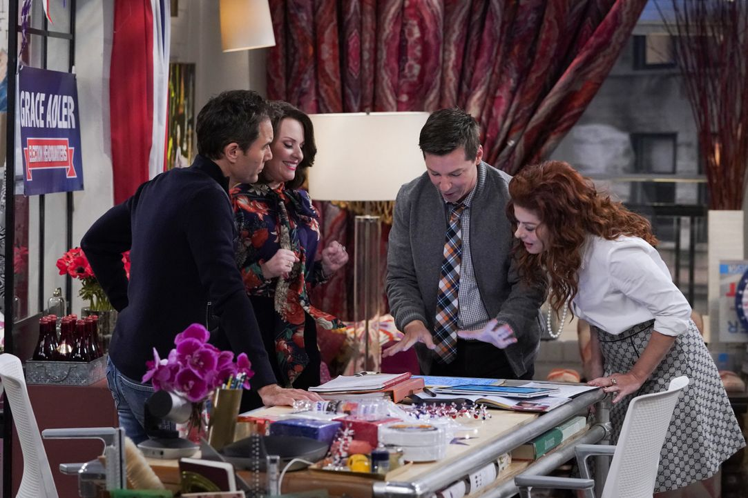 (v.l.n.r.) Will (Eric McCormack); Karen (Megan Mullally); Jack (Sean Hayes); Grace (Debra Messing) - Bildquelle: Chris Haston 2018 NBCUniversal Media, LLC / Chris Haston