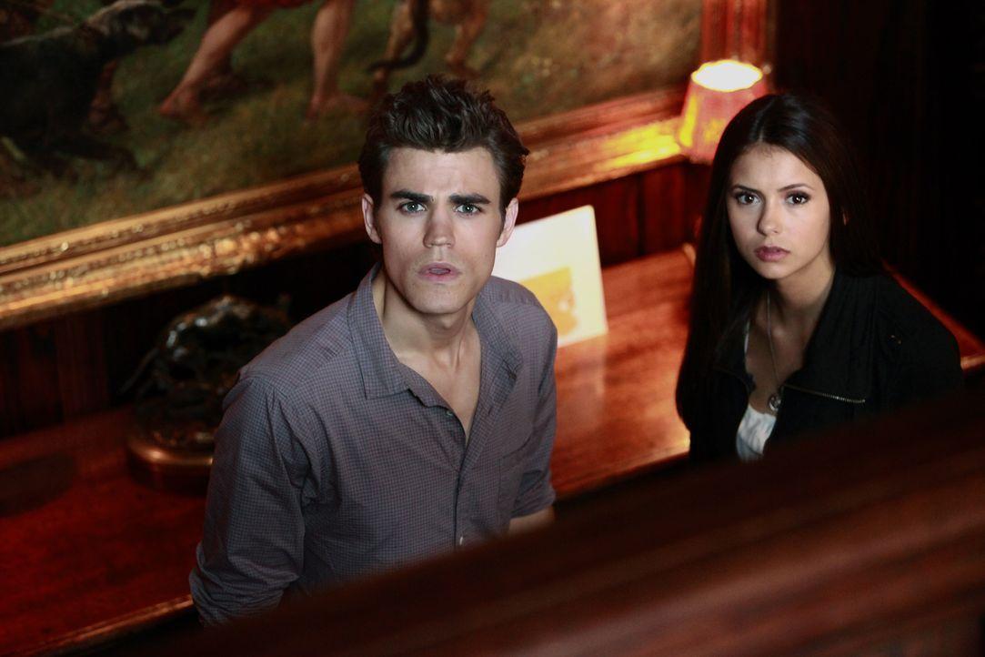 Elena (Nina Dobrev, r.) möchte, dass Stefan (Paul Wesley, l.) Jeremys Gedächtnis löscht, doch ist er dazu in der Lage? - Bildquelle: Warner Brothers