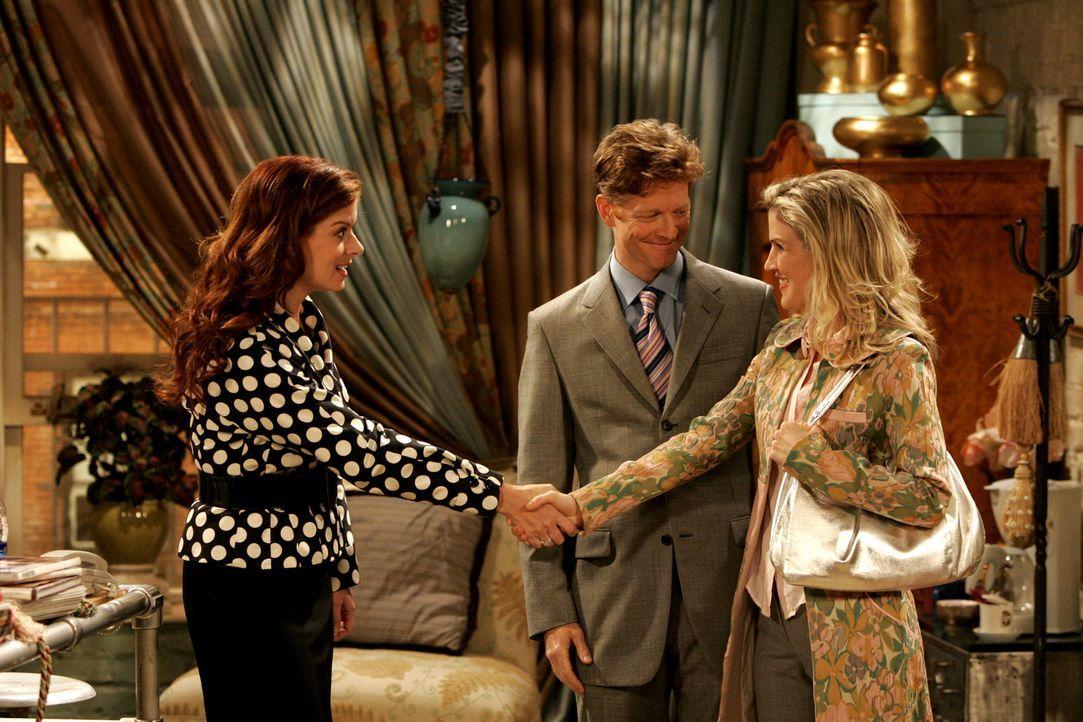 Grace (Debra Messing, l.) bekommt Besuch aus der Vergangenheit: Tom (Eric Stoltz, M.), ein Studienfreund und ehemaliger Liebhaber, kommt nach New Yo... - Bildquelle: Chris Haston NBC Productions