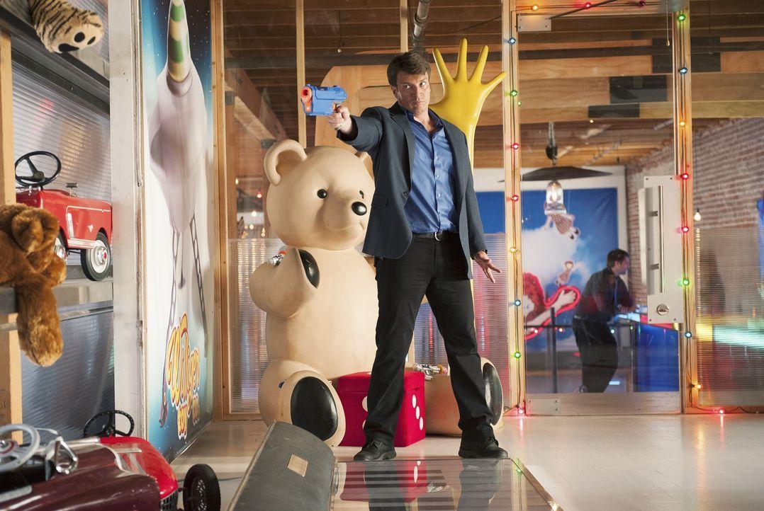 Sein neuer Fall führt ihn in eine Spielzeugfirma in Montreal: Richard Castle (Nathan Fillion) ... - Bildquelle: ABC Studios