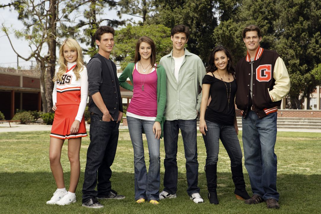 (1. Staffel) - The Secret Life Of The American Teenager: (v.l.n.r.) Grace (Megan Park), Ricky (Daren Kagasoff), Amy (Shailene Woodley), Ben (Kenny B... - Bildquelle: ABC Family