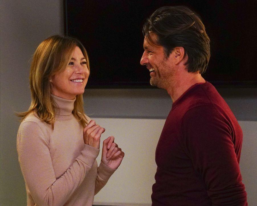 Wird Meredith (Ellen Pompeo, l.) zulassen, dass Riggs (Martin Henderson, r.) zu einem Date mit Maggie geht? - Bildquelle: Richard Cartwright 2016 American Broadcasting Companies, Inc. All rights reserved.
