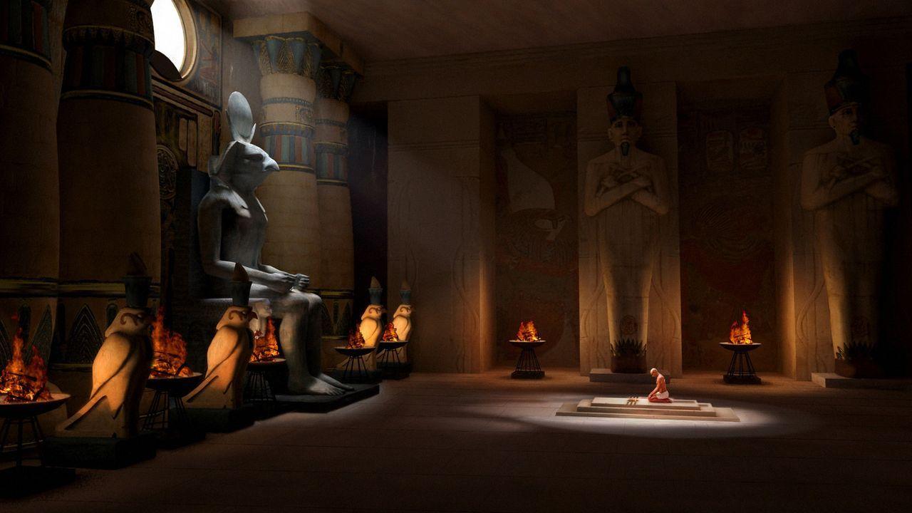 Nicht nur Archäologe Freemont ist der Meinung, dass sich die Tafel in Tutanchamuns (Francisco Bosch) Grab befindet. Auch Freemonts Gegenspieler und... - Bildquelle: 2006 RHI Entertainment Distribution, LLC