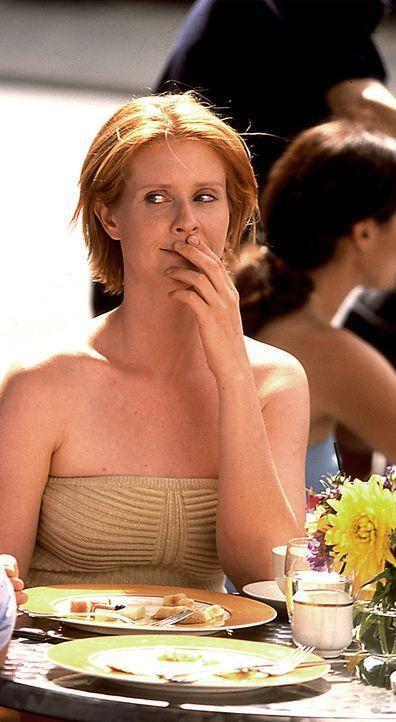 Mirandas (Cynthia Nixon) Denken wird nur noch von Sex beherrscht. Mit fortschreitender Schwangerschaft scheint ihr Organismus sich nur noch für Sex... - Bildquelle: Paramount Pictures