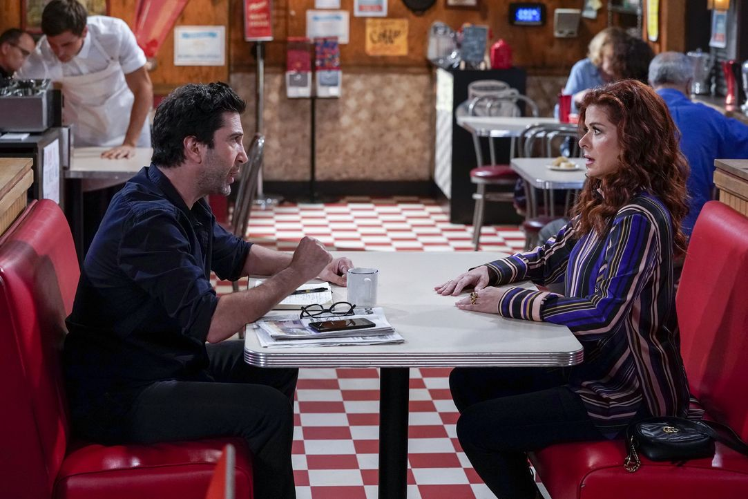 Noah (David Schwimmer, l.); Grace (Debra Messing, r.) - Bildquelle: Chris Haston 2018 Universal Television LLC. ALL RIGHTS RESERVED. / Chris Haston