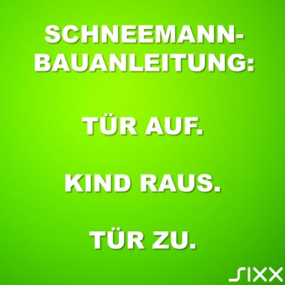 Visual Statements: Schneemann - Bildquelle: sixx