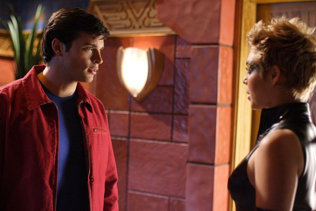 Eigentlich sind sie keine Feinde. Clark (Tom Welling, l.) muss die Sirene (Alaina Huffman, r.) davon überzeugen, dass Lex in Wirklichkeit der Böse i... - Bildquelle: Warner Bros.