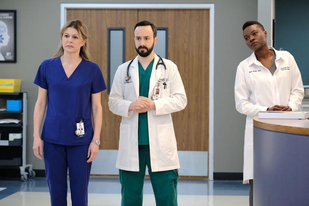 (v.l.n.r.) Dr. Kit Voss (Jane Leeves); Dr. Irving Feldman (Tasso Feldman); Dr. Mina Okafor (Shaunette Renée Wilson) - Bildquelle: 2018-2019 Twentieth Century Fox Film Corporation.  All rights reserved.