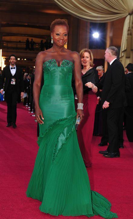 Viola Davis bei den Oscars 2012 - Bildquelle: AFP