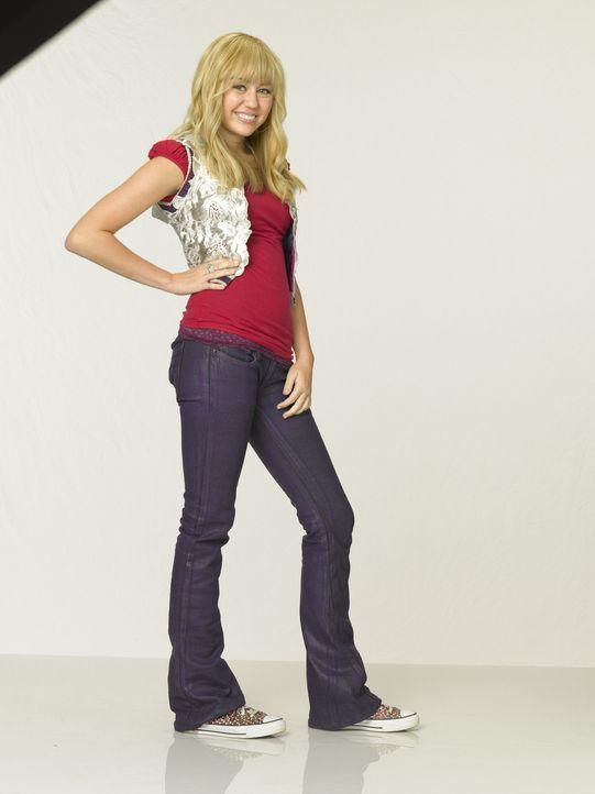 Teenie-Star Hannah Montana ist in Wirklichkeit die junge Schülerin Miley Stewart (Miley Cyrus). Außer ihrem Vater, ihrem Bruder und ihrer besten Fre... - Bildquelle: Sam Emerson Walt Disney Pictures.  All Rights Reserved