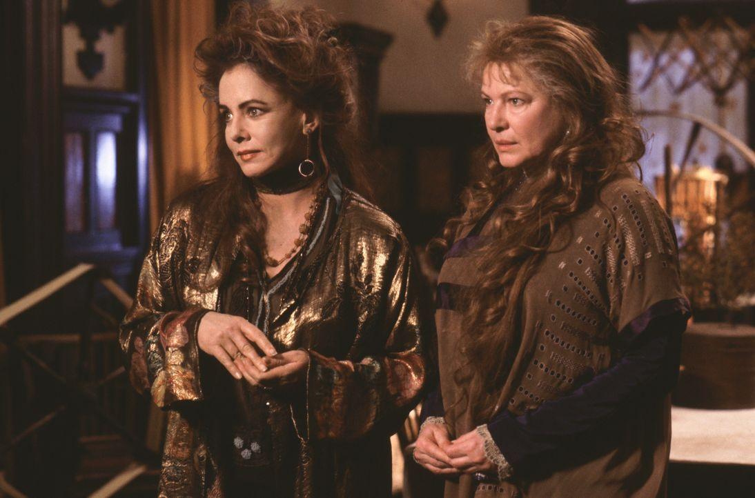 Von ihren Tanten (Dianne Wiest l. und Stockard Channing, r.) großgezogen, lernen Sally und Gillian ihre Fähigkeiten zu nutzen, doch Sally kehrt dem... - Bildquelle: Warner Brothers