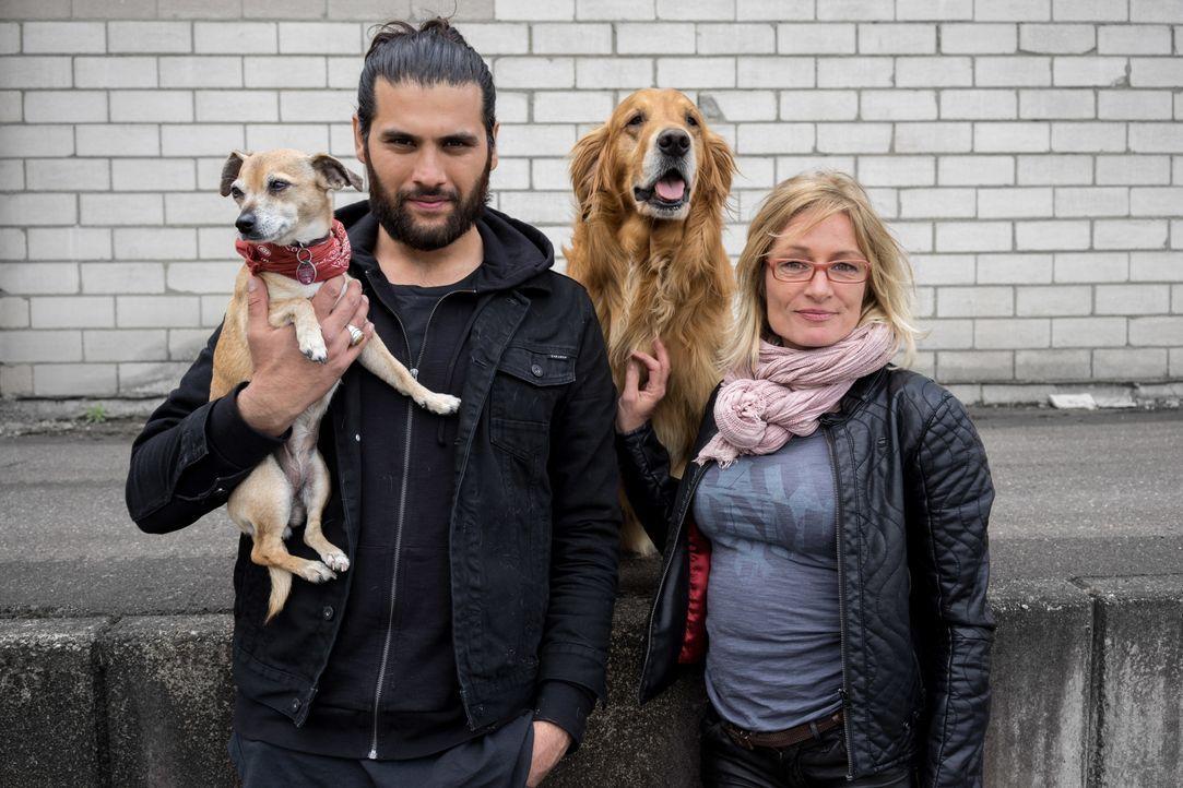 Sie suchen Hunde, die sie für ihre neuen Besitzer mit Handicap trainieren können: Masih Samin (l.) und Sabine Hulsebosch (r.). - Bildquelle: SAT.1