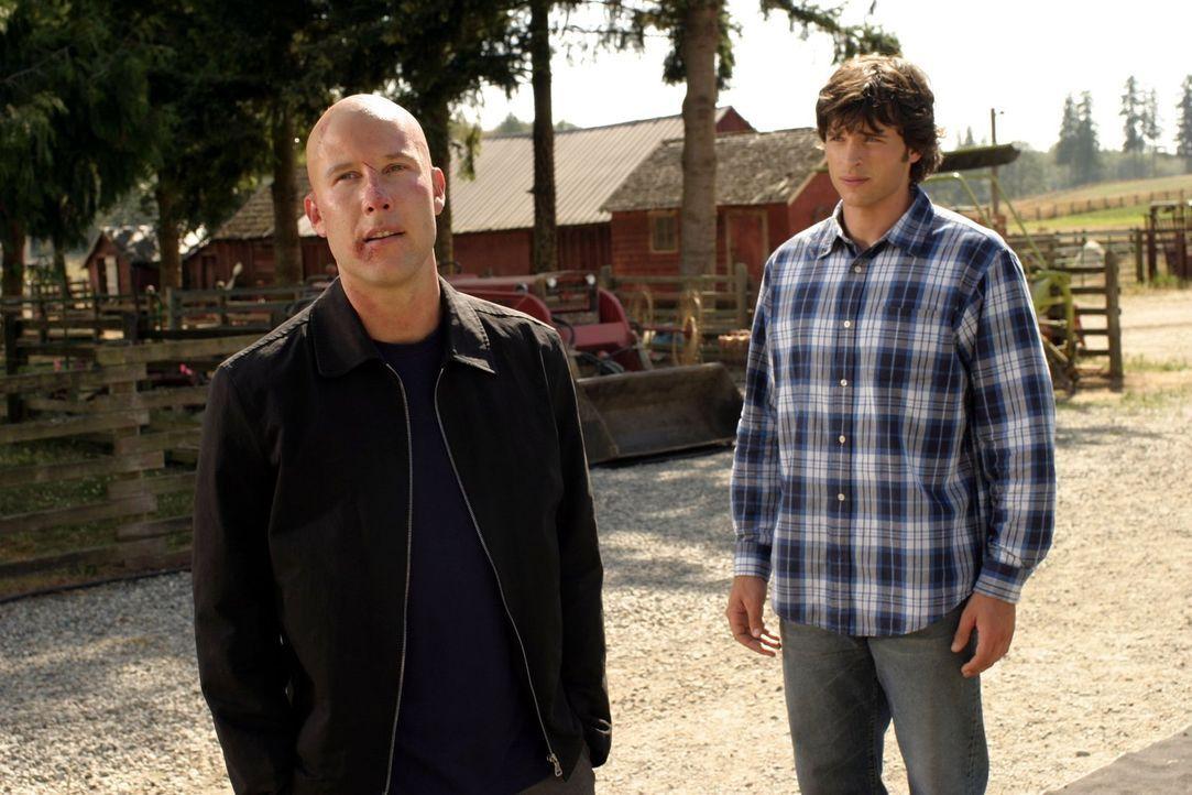Während Clark (Tom Welling, r.) ohne seinen Kryptonit-Ring zurecht kommen muss, sucht Lex (Michael Rosenbaum, l.) nach dem Verantwortlichen für sein... - Bildquelle: Warner Bros.