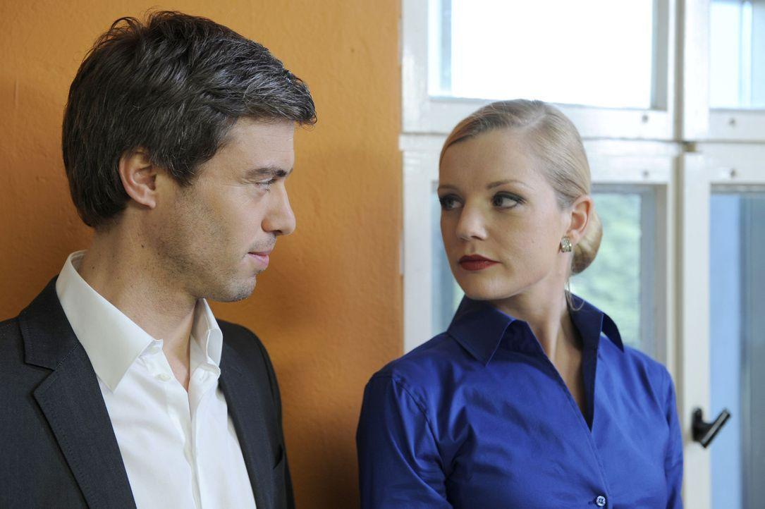 Helena (Kim-Sarah Brandts, r.) hört durch Julian (Sebastian Hölz, l.) vom Gerücht der heimlichen Affäre zwischen Ben und Bea. Was wird sie mit d... - Bildquelle: SAT.1