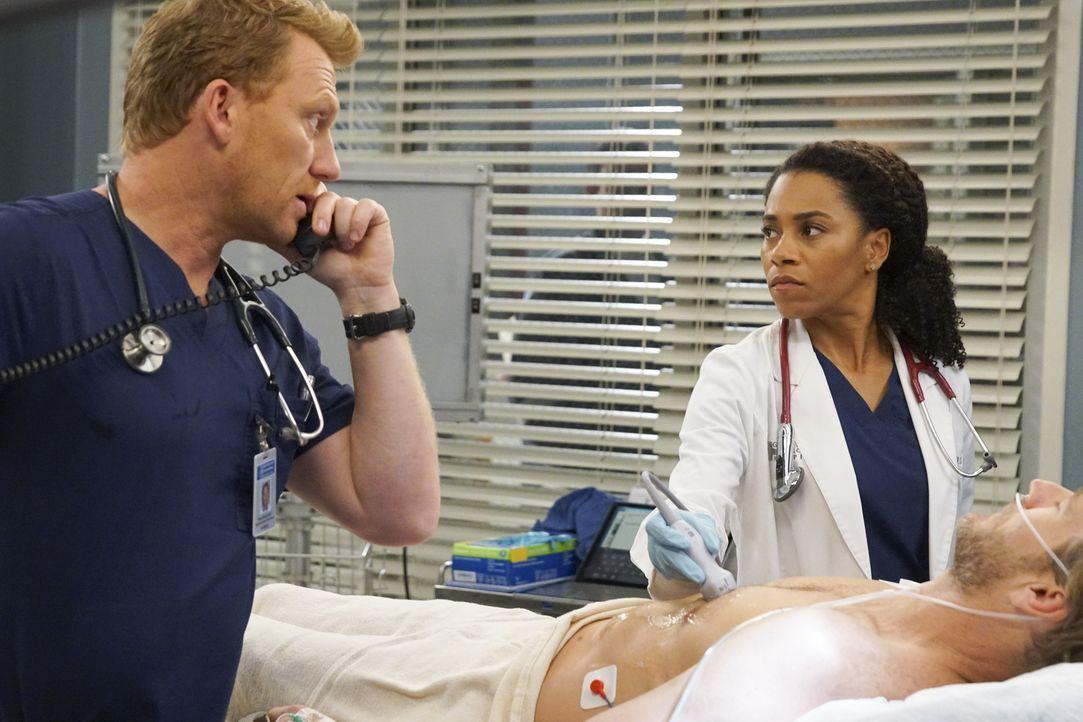 Dr. Owen Hunt (Kevin McKidd, l.); Dr. Maggie Pierce (Kelly McCreary, r.) - Bildquelle: Scott Everett White ABC Studios / Scott Everett White