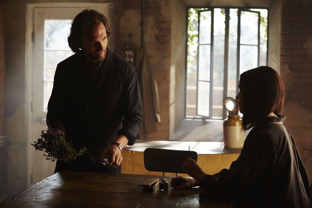 Jeremy (Greg Bryk, l.) ahnt bereits, dass Ruth (Tammy Isbell, r.) ihm und auch Paige etwas Entscheidendes verschweigt ... - Bildquelle: 2015 She-Wolf Season 2 Productions Inc.