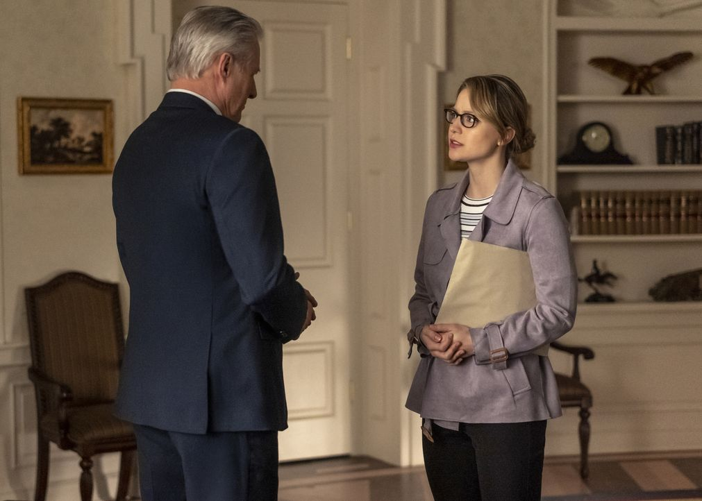 Präsident Baker (Bruce Boxleitner, l.); Kara (Melissa Benoist, r.) - Bildquelle: Colin Bentley 2018 The CW Network, LLC. All Rights Reserved.