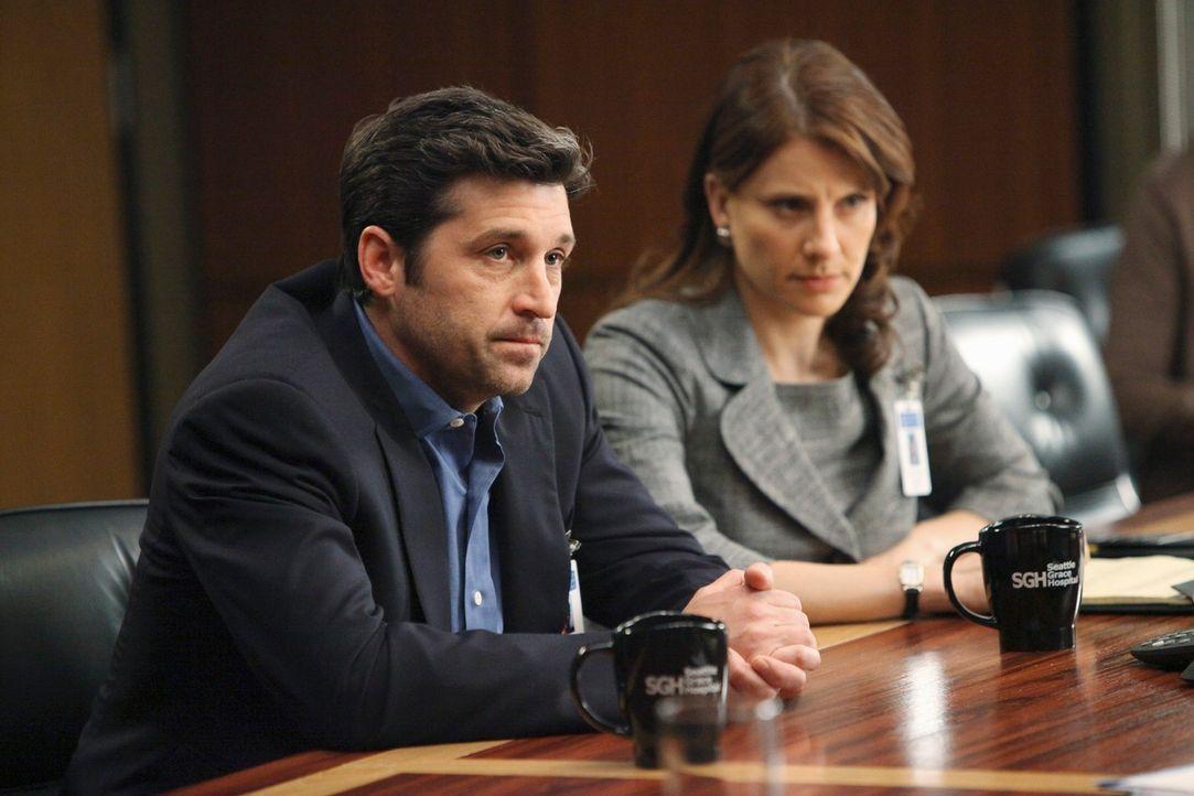 Derek (Patrick Dempsey, l.) muss sich derweil mit Gary Clark auseinandersetzen, der ihn für den Tod seiner Frau verantwortlich macht und Gerechtigke... - Bildquelle: Touchstone Television