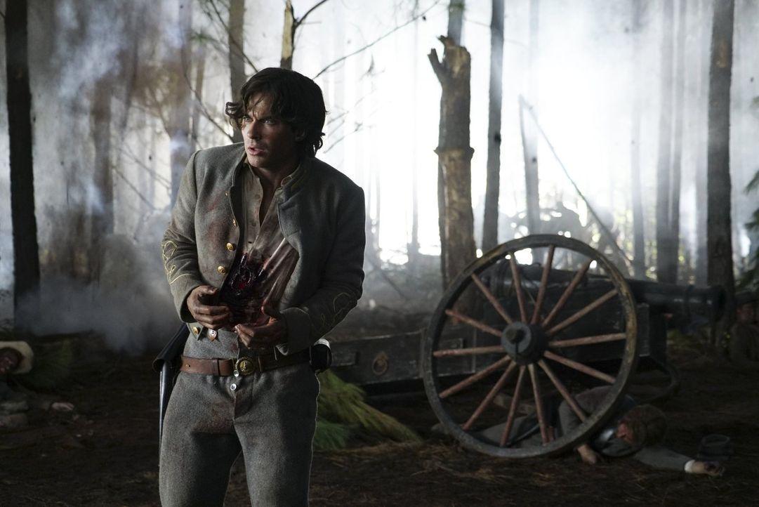 Nachdem Damon (Ian Somerhalder) im Inneren des Phoenix-Steins gefangen wurde, muss er sich seiner ganz persönlichen Hölle stellen ... - Bildquelle: Warner Bros. Entertainment, Inc.