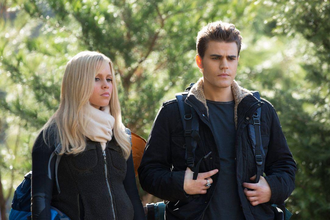 Eine erstaunliche Entdeckung treibt das neue Team Rebekah (Claire Holt, l.) und Stefan (Paul Wesley, r.) immer weiter auseinander, denn das Vertraue... - Bildquelle: Warner Brothers