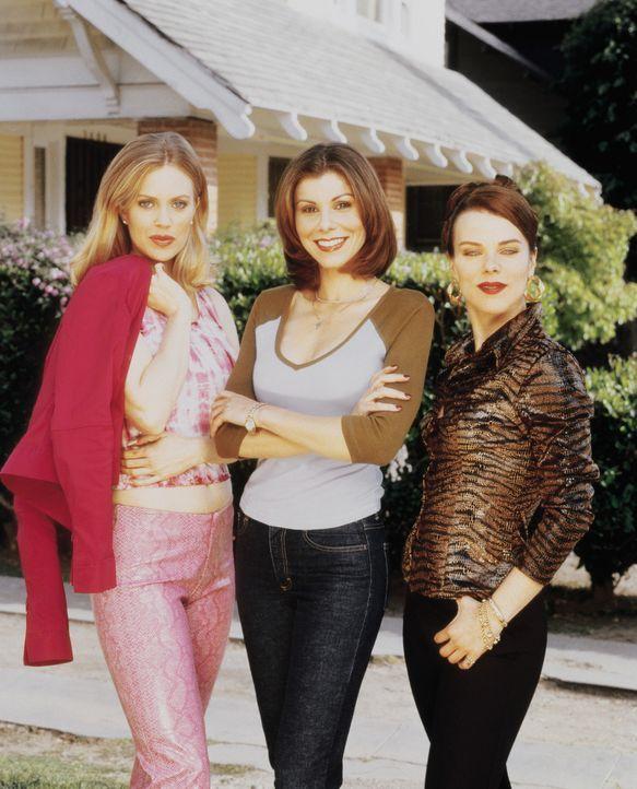 Halten zusammen: Lydia (Heather Paige Kent, M.),  Candy (Kristin Bauer, l.) und Jackie (Debi Mazar, r.) ... - Bildquelle: CBS Television