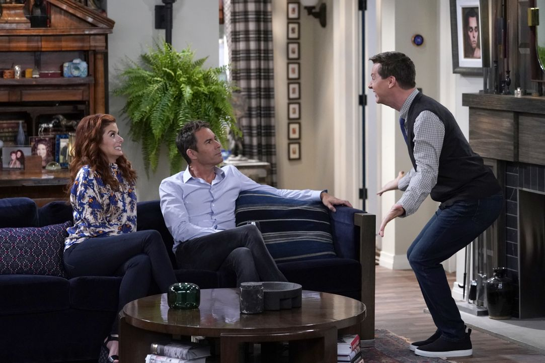 (v.l.n.r.) Grace (Debra Messing); Will (Eric McCormack); Jack (Sean Hayes) - Bildquelle: Chris Haston 2018 NBCUniversal Media, LLC / Chris Haston