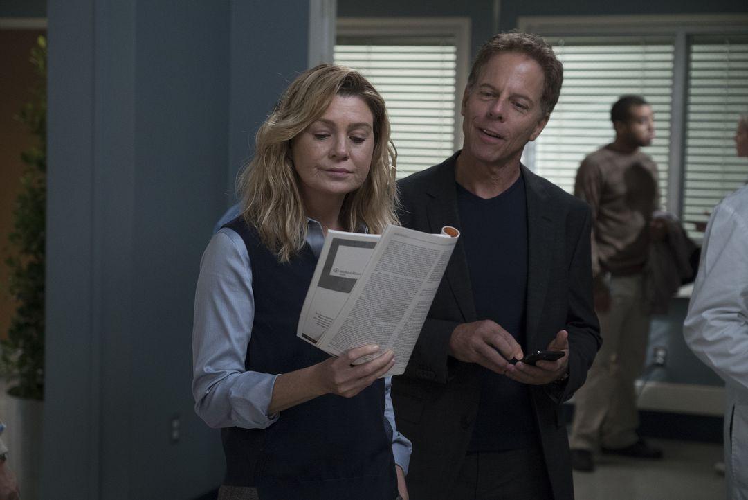 Dr. Meredith Grey (Ellen Pompeo, l.); Dr. Thomas Koracik (Greg Germann, r.) - Bildquelle: Eric McCandless ABC Studios / Eric McCandless