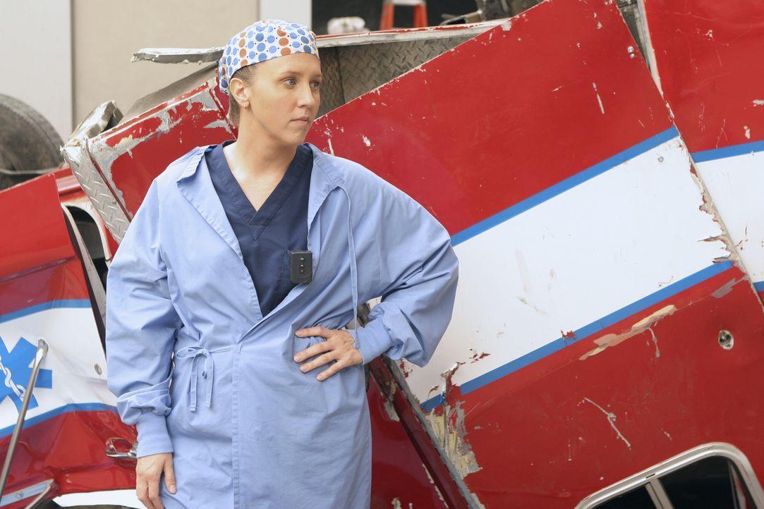 In der Einfahrt der Notaufnahme ist ein Unglück passiert. Dr. Hahn (Brooke Smith) kümmert sich um die Verletzten ... - Bildquelle: Touchstone Television
