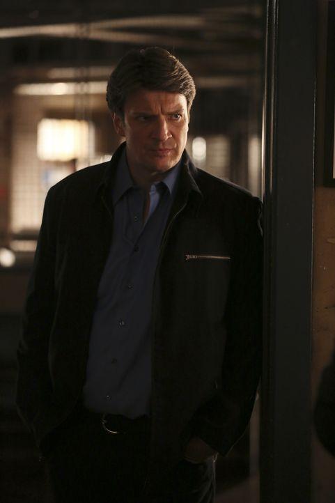 Während sich Castle (Nathan Fillion) wilden Spekulationen hingibt, muss Beckett den Mord an einem jungen Mann verhindern, den religiöse Fanatiker fü... - Bildquelle: Scott Everett White 2016 American Broadcasting Companies, Inc. All rights reserved.