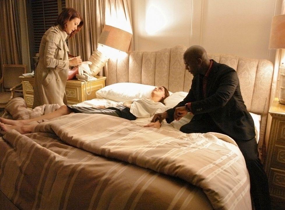 Carley (Ginny Weirick, M.), eine Patientin, die das Geld fürs Studium als Prostituierte verdient, wird von einem Freier geschlagen. Sam (Taye Diggs,... - Bildquelle: ABC Studios