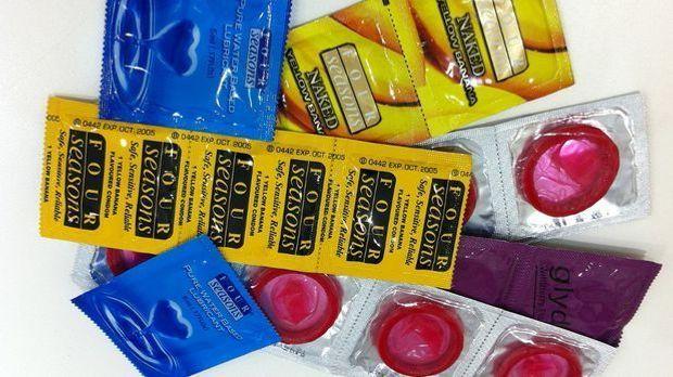Viele Kondome auf einem Haufen