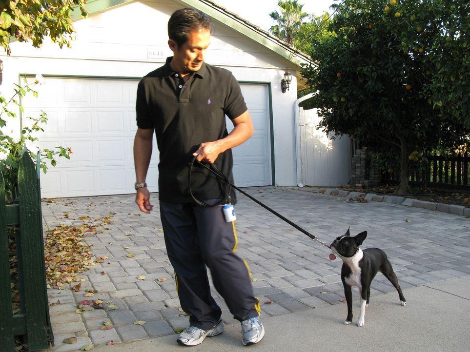 Der Boston Terrier Bella macht seinem Besitzer Kris (Bild) und dessen Familie das Leben schwer. Sie bitten den Hundeflüsterer Cesar Millan um Hilfe... - Bildquelle: Rive Gauche Intern. Television