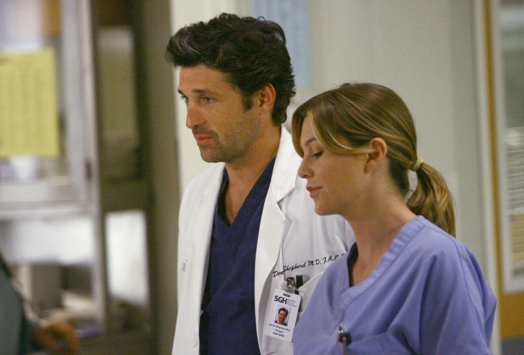 Hat ihre Liebe eine Chance? Derek (Patrick Dempsey, l.) und Meredith (Ellen Pompeo, r.) ... - Bildquelle: Touchstone Television