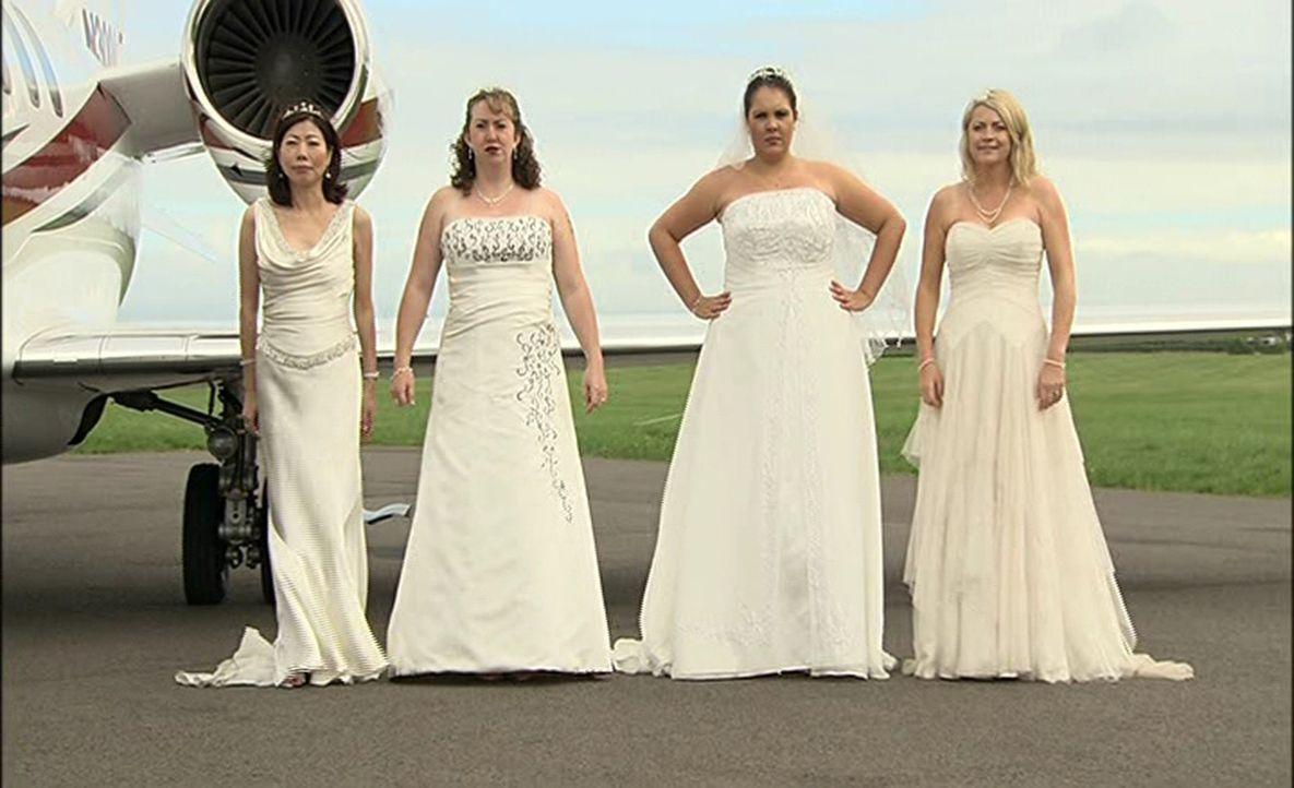 Welche Braut trägt das schönste Kleid? Wer hat die leckerste Hochzeitstorte? Welches Paar hat die ergreifendste Hochzeitszeremonie? Vier Bräute t... - Bildquelle: ITV Studios Limited 2012