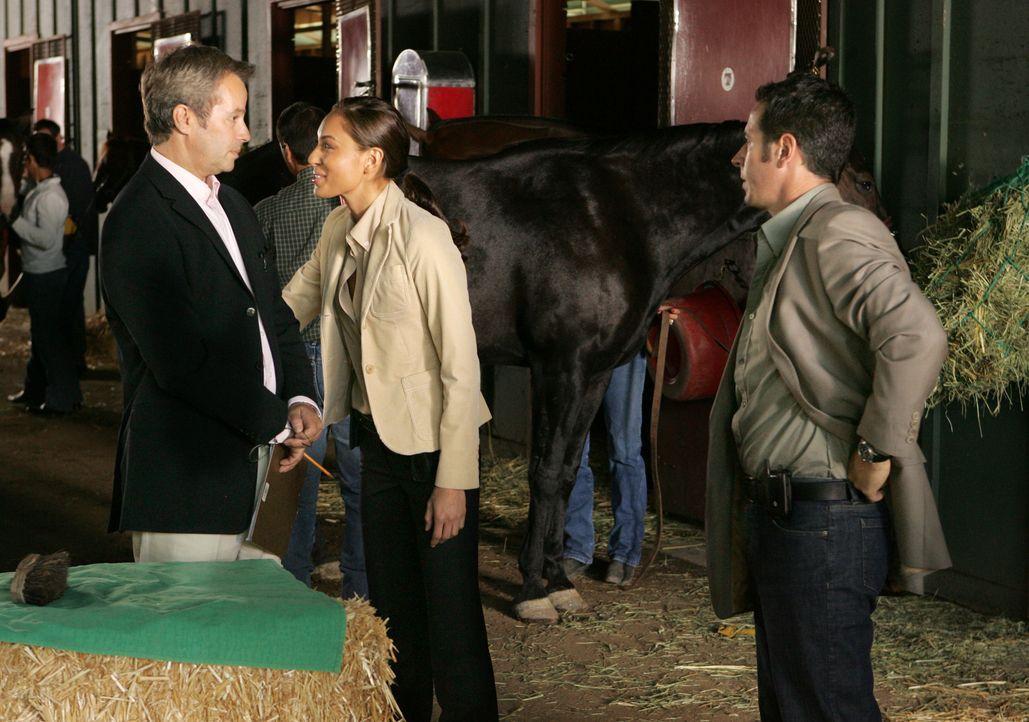 Bei ihren Recherchen stoßen Liz Warner (Aya Sumika, M.) und Don (Rob Morrow, r.) auf Maurice Connors (Philip Casnoff, l.) ... - Bildquelle: Paramount Network Television