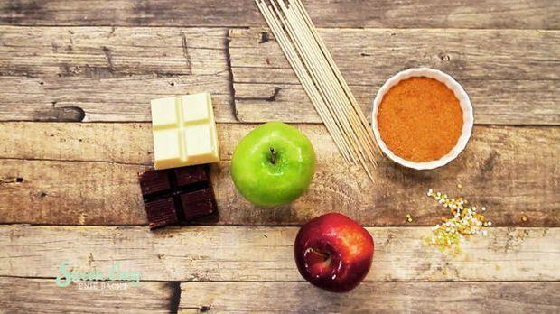 Bunte Apfelspieße: Das benötigt ihr
