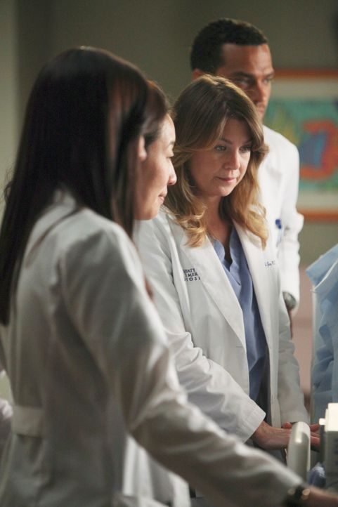 Alle ziehen an einem Strang, um Callie und ihrem Baby Sofia während des schmerzvollen Weges zur Besserung beizustehen: Lexie (Chyler Leigh, l.), Cri... - Bildquelle: ABC Studios