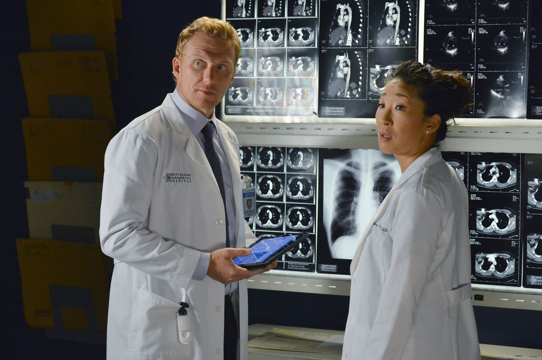 Nachdem sich Christina (Sandra Oh, r.) und Owen (Kevin McKidd, l.) getrennt haben, können sie trotzdem noch nicht die Finger von einander lassen ... - Bildquelle: ABC Studios