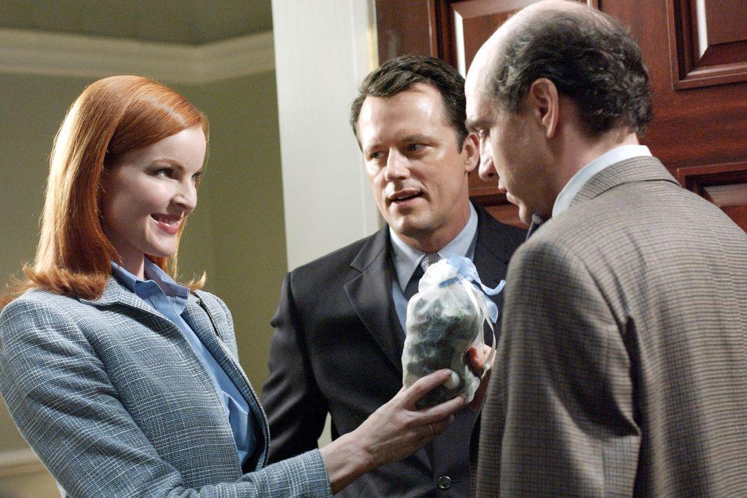 Bree (Marcia Cross, l.) bittet ihren Mann Rex (Steven Culp, M.), nicht zum Scheidungsanwalt zu gehen, sondern einen Eheberater (Darsteller unbekannt... - Bildquelle: Touchstone Television