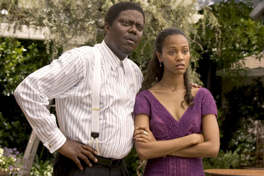 Percy Jones (Bernie Mac, l.) hütet seine Theresa (Zoe Saldana, r.) wie einen Augapfel. Das Beste ist für sie gerade gut genug. Aber wie sieht es m... - Bildquelle: 2007 CPT Holdings, Inc. All Rights Reserved. (Sony Pictures Television International)
