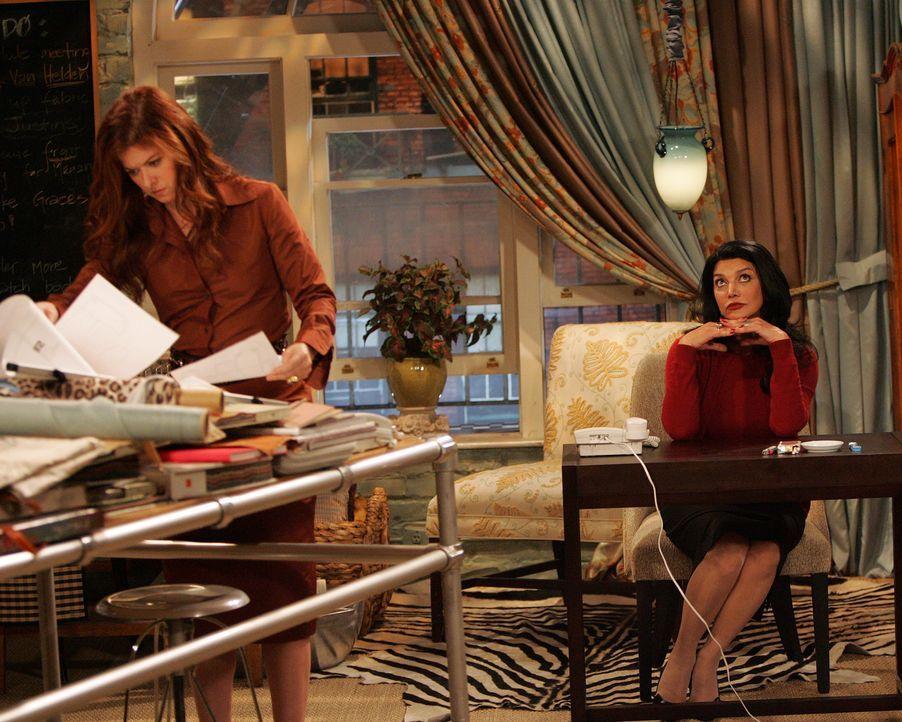 Grace (Debra Messing, l.) hat so viel Arbeit, dass sie eine zweite Assistentin einstellen muss. Entgegen dem Rat von Karen gibt sie der selbstbewuss... - Bildquelle: Chris Haston NBC Productions