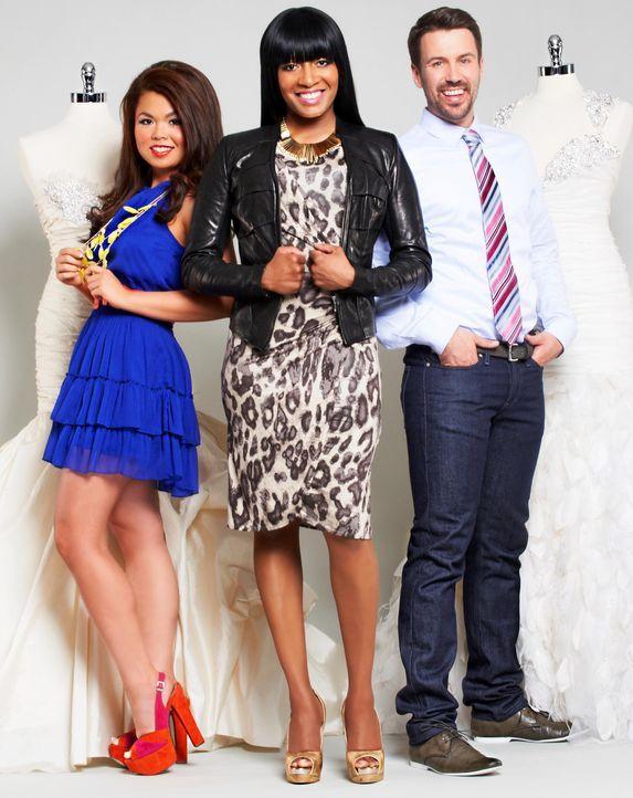 Angela (l.), Keasha (M.) und Aaron (r.) wollen Bräute glücklich machen ... - Bildquelle: Copyright 2012 All Rights Reserved  KPD Productions Inc.