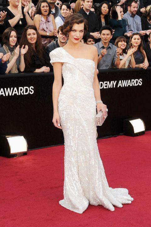 Milla Jovovic bei den Oscars 2012 - Bildquelle: AFP