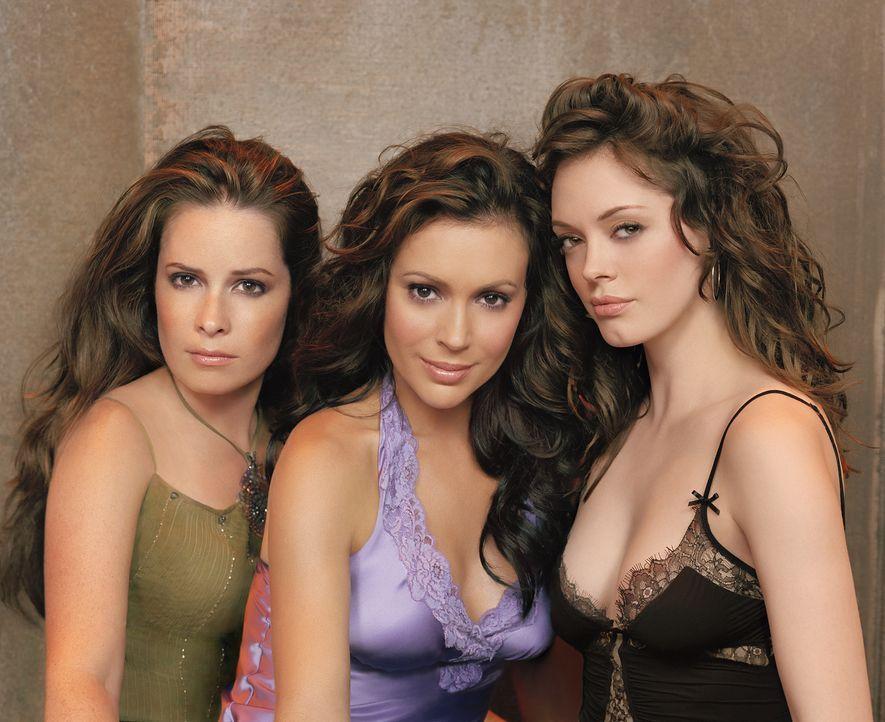 (8. Staffel) - Versuchen ein normales Leben zu führen: Phoebe (Alyssa Milano, M.), Piper (Holly Marie Combs, l.) und Paige (Rose McGowan, r.) ... - Bildquelle: Paramount Pictures